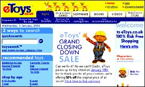 Toys R Us is in possession of the stolen property of eToys estate